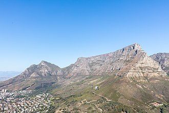 Table Mountain National Park - Table Mountain seen from the slopes of Lion's Head