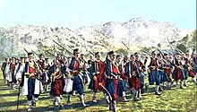 Montenegrins from Chevo clan march to battle.jpg