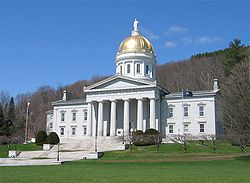 Vermont State House, seat of the legislative branch of the state government