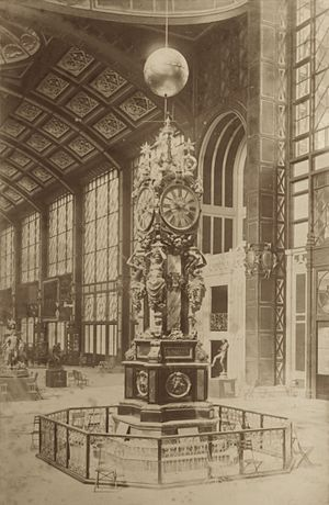 Eugène Farcot - The piece at the Galerie d'Iéna, one of the main exhibition pavilions in the Palais du Champ-de-Mars at the Paris world fair of 1878.
