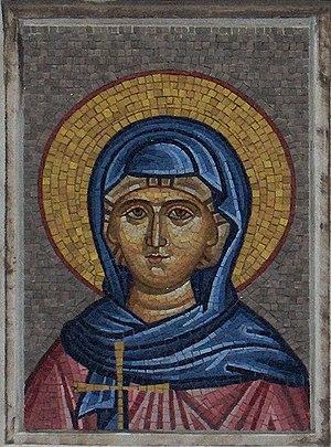 Pula Cathedral - Mosaic of Virgin Mary at the Pula Cathedral