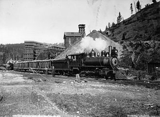 Greenwood, British Columbia - Trains at the Mother Lode Mine near Greenwood, 1903