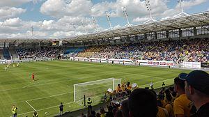 Motor Lublin - Arena Lubin during III liga playoff game between Motor and Olimpia Elbląg.