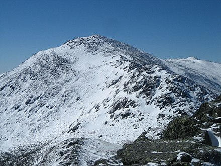 Mount Adams (5,774 ft or 1,760 m) is part of New Hampshire's Presidential Range. Mount Adams NH from Madison.jpg