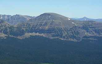 Mount Agassiz (Utah) - West side of Mt. Agassiz as seen from Bald Mountain