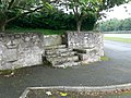 Mounting block outside Llanferres Church - geograph.org.uk - 568886.jpg