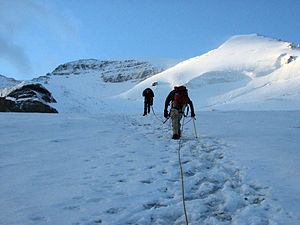 Mount Athabasca - North Glacier route on Mount Athabasca