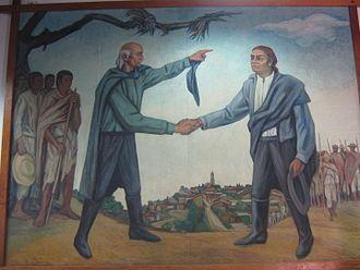 José María Morelos - Hidalgo and Morelos, mural in Museo Casa de Morelos