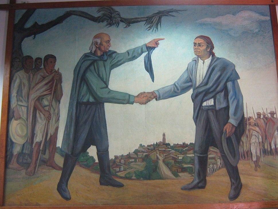 Mural de Hidalgo y Morelos en el Museo Casa de Morelos