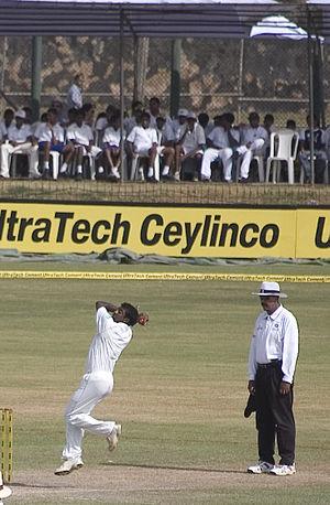 Muttiah Muralidaran's run-up before he bowls. ...