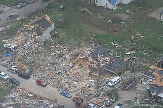 Tornado outbreak of April 9–11, 2009 - Aerial image of tornado damage in Murfreesboro, Tennessee