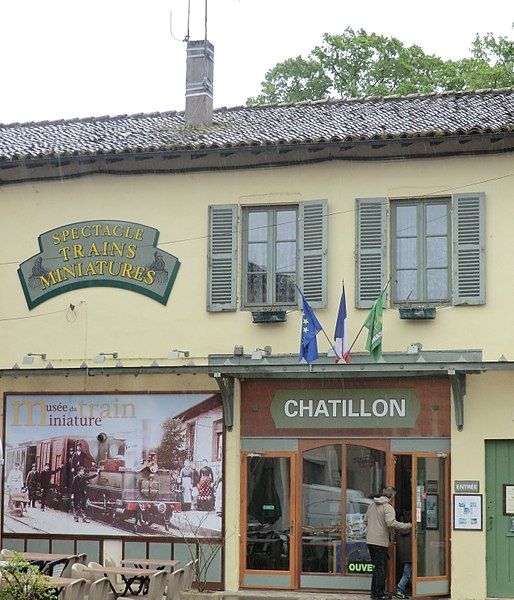 Musée du train miniature de Châtillon-sur-Chalaronne.