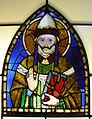 Museo di santa croce, vetrata pacino di bonaguida, santo papa.JPG