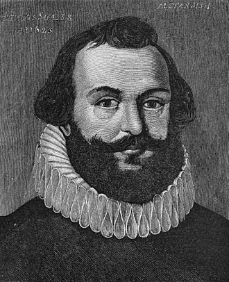 Myles Standish - This portrait was first published in 1885 and alleged to be a 1625 likeness of Standish, although its authenticity has never been proven.