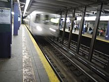 The Myrtle–Willoughby Avenues subway station, where Brinsley killed himself after fatally shooting two NYPD officers