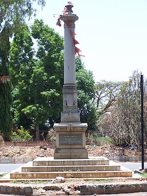 15th (Imperial Service) Cavalry Brigade - Mysore Lancers Memorial at Bangalore in April 2004