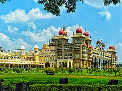 Mysore Palace - Colourful architecture.jpg
