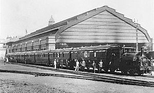 NGR Class K 0-4-0ST - On the Princess Christian Hospital Train at Durban, c. 1900