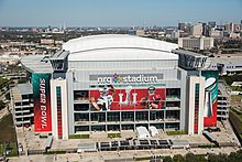 NRG Stadium, bird's eye view.