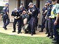 NSW police use illegal pain hold on activist at University of Sydney.JPG