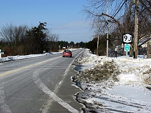 New York State Route 9J - NY 9J proceeding northward from US 9 in Stockport