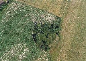 Nagyigmánd - Nagyigmánd, earthwork fort from above
