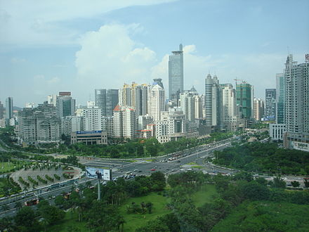 View of Nanning, the capital and economic center of Guangxi. Nanning skyline 2008.JPG