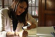Natasha Trethewey during book signing at the University of Michigan