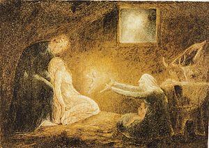 Agony in the Garden (Blake) - Nativity, 1790-1800. Tempera on copper. Philadelphia Museum of Art.