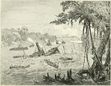 Naval Warfare in Paraguay. Destruction of a Brazilian Gunboat by a torpedo.jpg