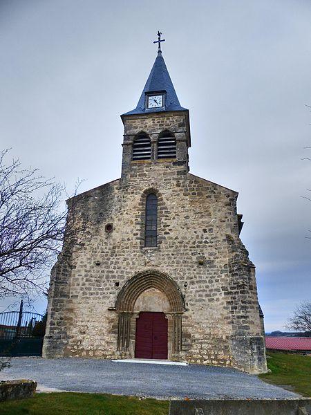 Église Saint-Pourçain de Naves (Allier), France. Façade.