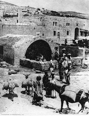 Nazareth - Historic photo of Mary's Well