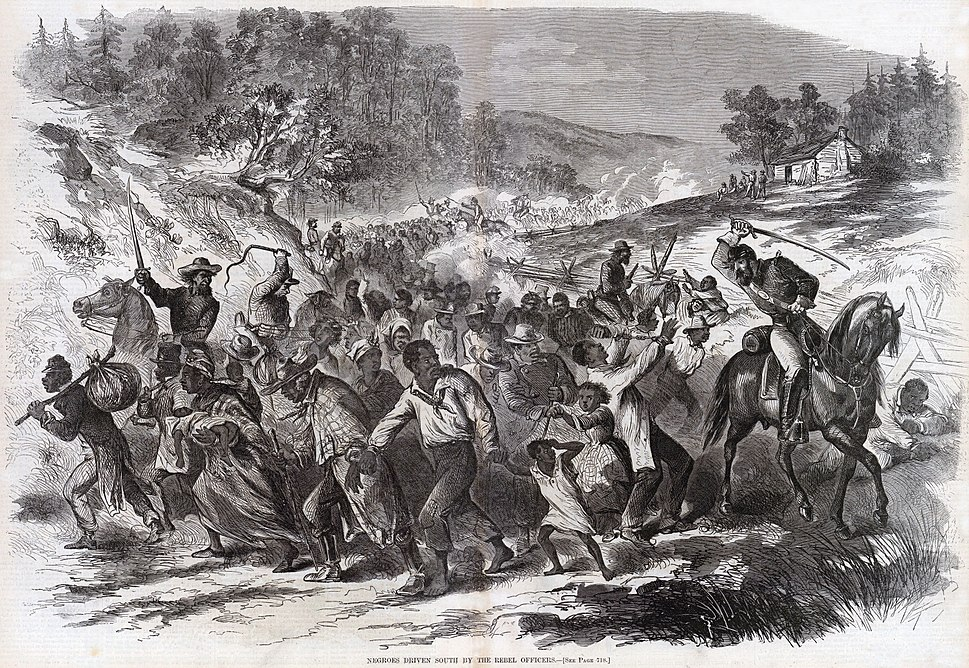 Negroes Being Driven South By the Rebel Officers (November 1862), by Harper's Weekly