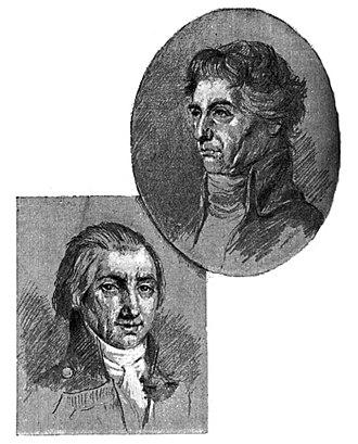 Federico Gravina - Gravina (left) and Horatio Nelson (right) in an illustration by Benito Pérez Galdós, 1882