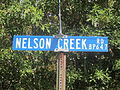 Nelson Creek Road sign, Bienville Parish, LA IMG 5064.JPG
