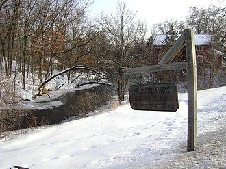 Dayton, Waupaca County, Wisconsin - Nelson Park in northeastern Dayton