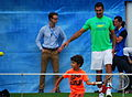 Nenad Zimonjic's son hitting with Andy Murray (14235968067).jpg