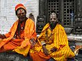 Nepal - Kathmandu - 017 - Sadhus at Pashupatinath Temple (5793637308).jpg