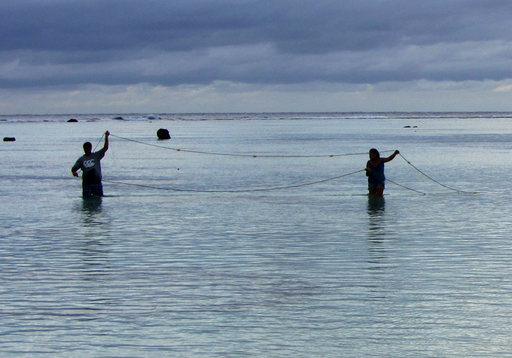 Net fishing on Aitutaki Island, Cook Islands - journal.pbio.1001387.g002
