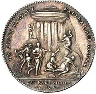 "Les Neuf Sœurs - A token from ""Les Neuf Sœurs"" (1783)."