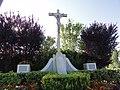 Neuville-Saint-Amand (Aisne) croix de chemin au village.JPG