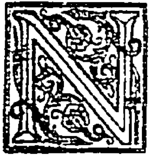 """Illuminated initial """"N"""" from The New..."""