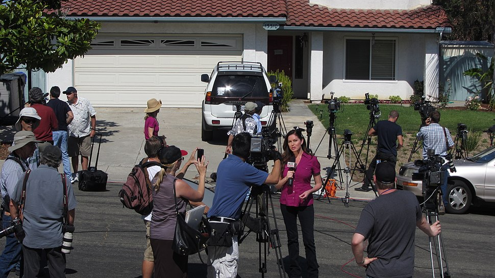 News Reporters Gather at Home of James Holmes%27s Parents