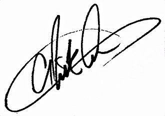 Nick Carter (musician) - Image: Nick carter signature