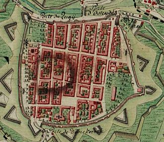 Nieuwpoort, Belgium - Nieuwpoort on the Ferraris map (around 1775)