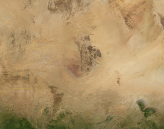 Outline of Niger - An enlargeable satellite image of Niger