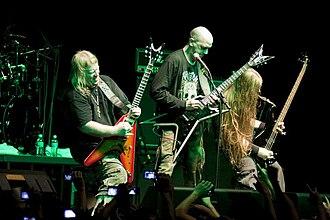 Nile (band) - Image: Nile in performance (São Paulo, 2010)