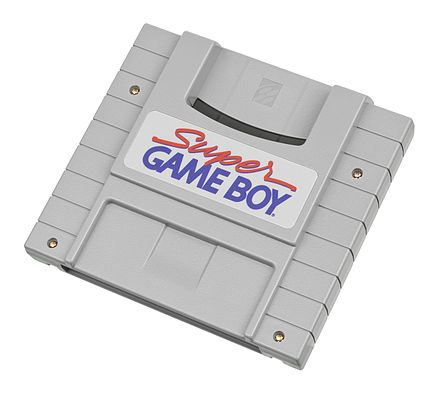 The Super Game Boy allows Game Boy games to be played on the SNES. Nintendo-Super-Game-Boy.jpg