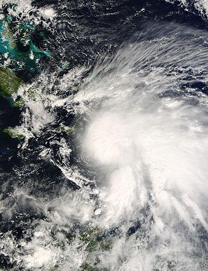 Hurricane Noel - Tropical Storm Noel nearing Hispaniola on October 28