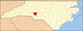 North Carolina Map Highlighting Cabarrus County.PNG